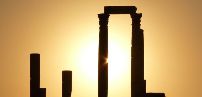 soleil ciel colonnes piliers